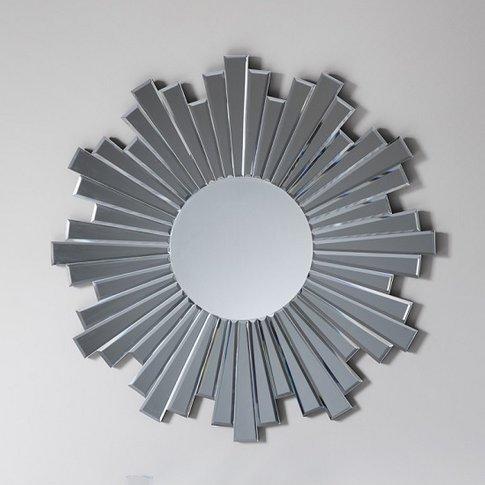 Damien Round Wall Mirror With Starburst Design