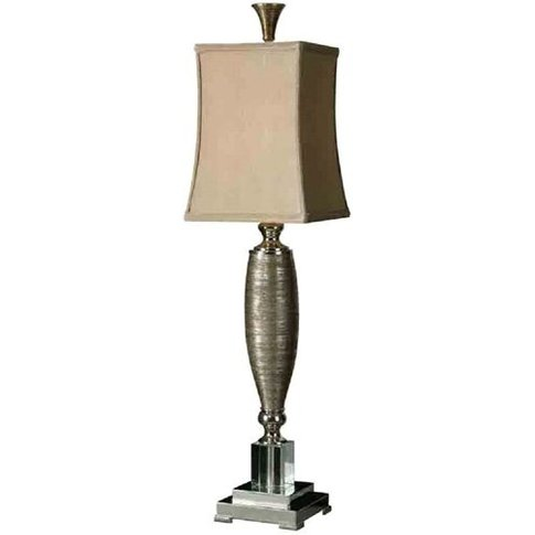 Abriella Buffet Table Lamp With Polished Chrome Metal