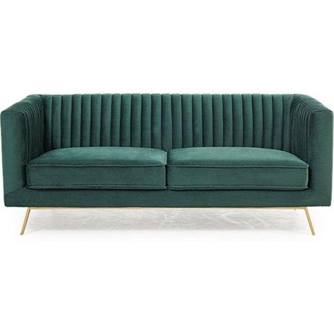 Achird Velvet 2 Seater Sofa In Green