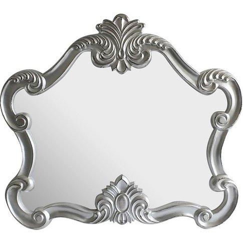 Acorn Decorative Wall Mirror In Silver