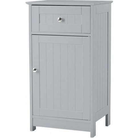 Adamo Bathroom Storage Cabinet In Grey With 1 Door A...