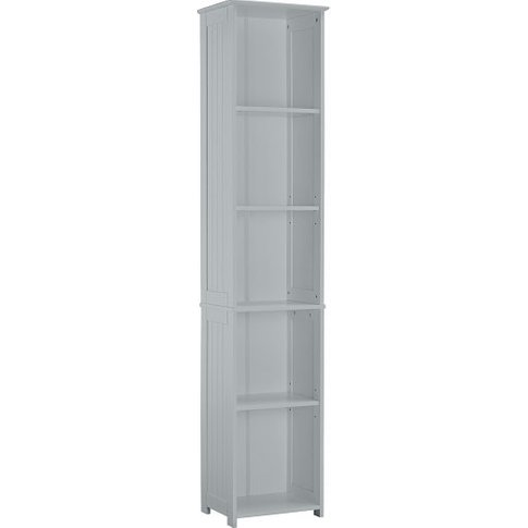 Adamo Bathroom Storage Unit In Grey With 5 Compartment