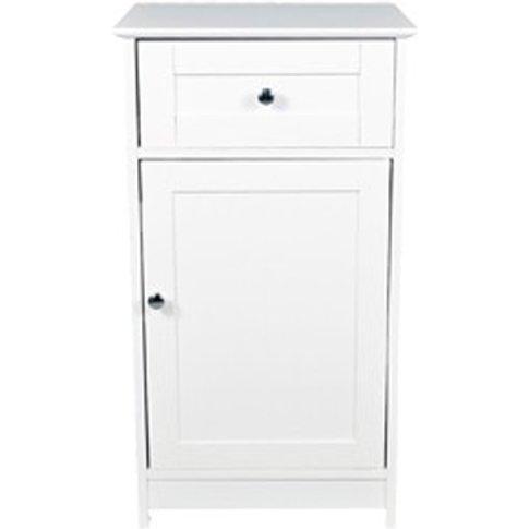 Adamo Wooden Low Storage Unit In White