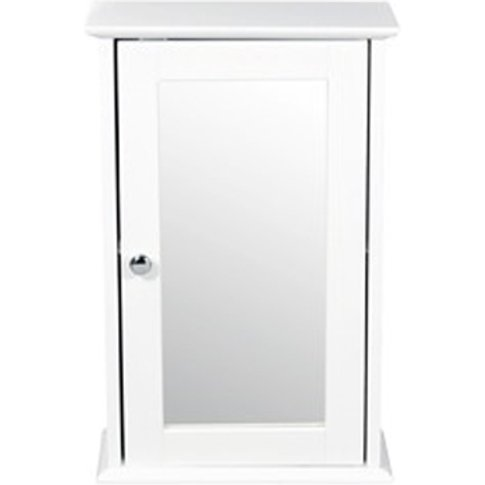 Adamo Wooden Wall Cabinet In White With Mirror