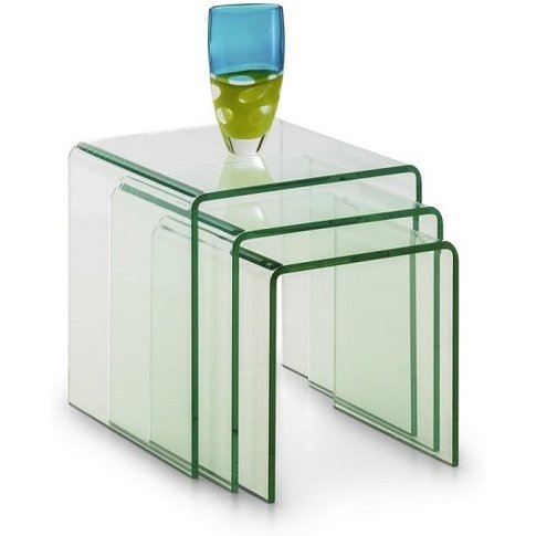 Adira Three Nest Of Tables In Clear Glass