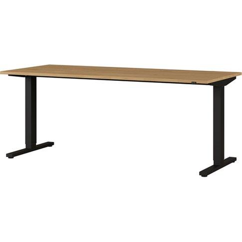 Agenda Large Adjustable Laptop Desk In Grandson Oak ...