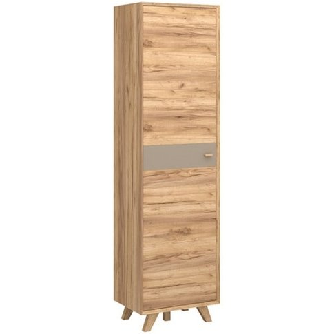 Aiden Wooden Wardrobe In Navarra Oak And Stone Grey