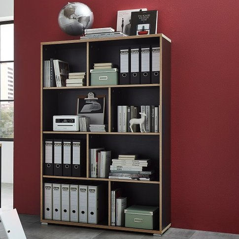 Alantra Wooden Home Office Shelving Unit In Anthracite