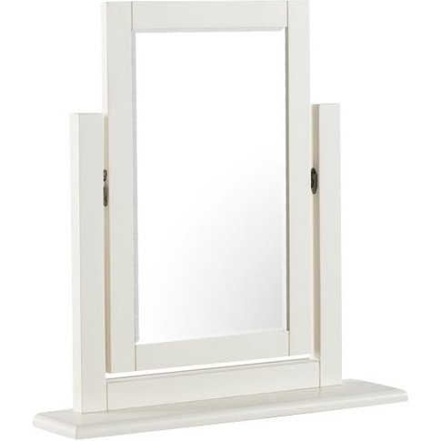 Alaya Vanity Mirror In Stone White Finish