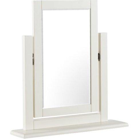 Alaya Vanity Mirror In Stone White Finish