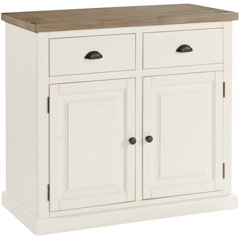 Alaya Wooden Small Sideboard In Stone White Finish