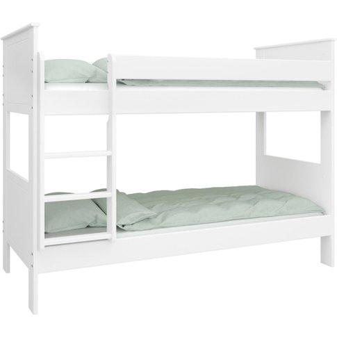 Alba Wooden Children Bunk Bed In White