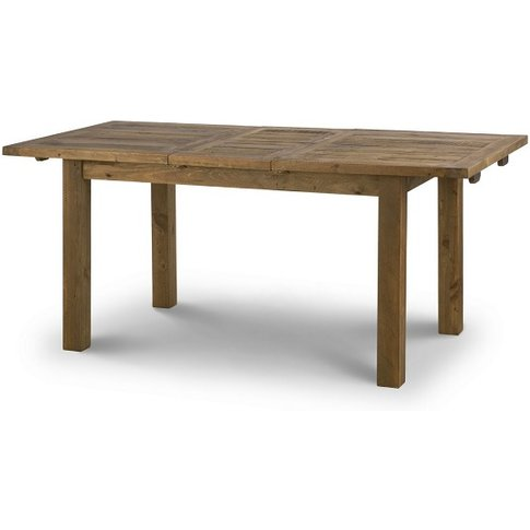 Alecia Wooden Extending Dining Table In Rough Sawn Pine