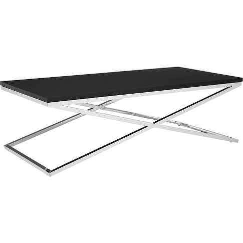 Alena Coffee Table Rectangular In Black And Stainles...