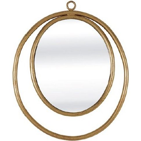 Alexia Wall Mirror Oval In Gold Finish