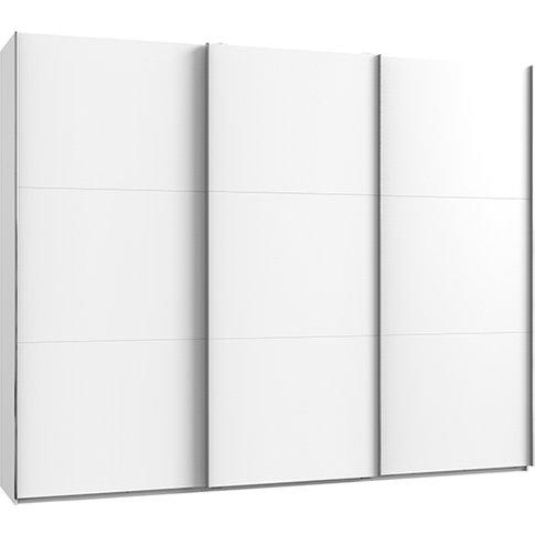 Alkesia Wooden Sliding 3 Doors Wardrobe In White