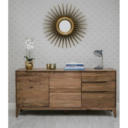 Allegro Sideboard In Acacia Wood With 2 Doors And 3 ...