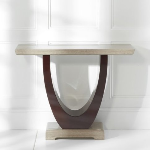 Allie Marble Console Table Rectangular In Light And ...
