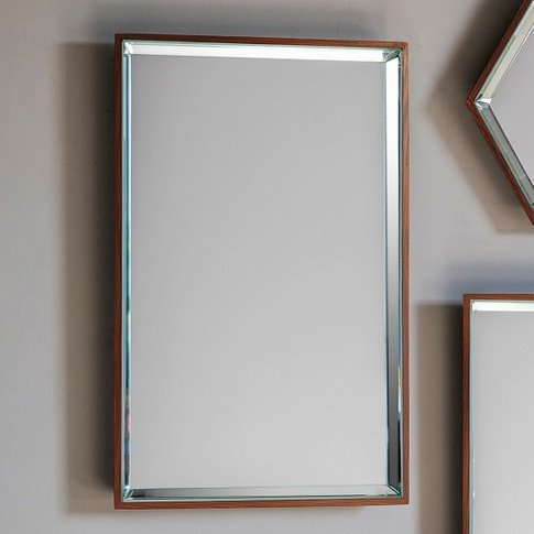 Allure Wall Mirror Rectagular In Copper With Wooden ...