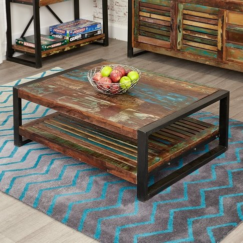 London Urban Chic Rectangular Wooden Coffee Table