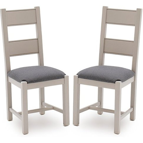 Amberly Grey Wooden Dining Chairs In Pair