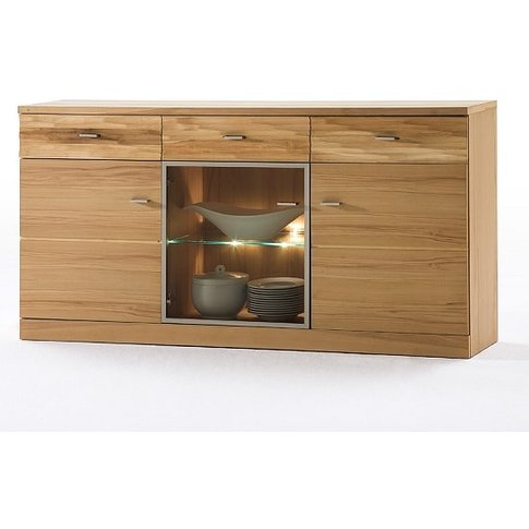 Amble Wooden Sideboard In Core Beech With 3 Doors Wi...