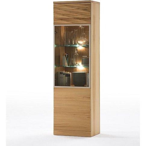 Amble Left Display Cabinet In Core Beech With 1 Door...