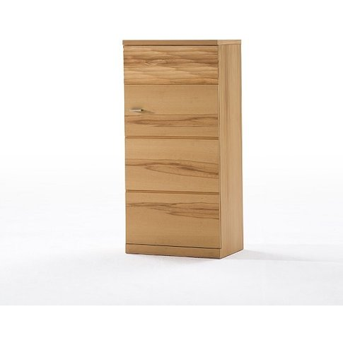 Amble Wooden Right Storage Cabinet In Core Beech Wit...