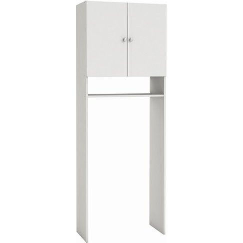 Ambros Modern Bathroom Cabinet In White With 2 Doors