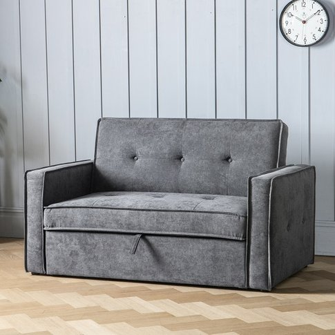 Ameland Contemporary Fabric Sofabed In Dove Grey