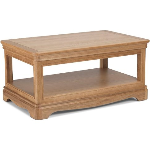Ametis Wooden Coffee Table Rectangular In Oak With S...