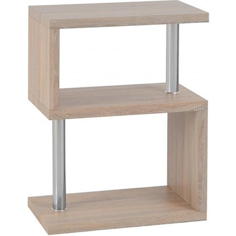 Andi Wooden Three Tier Shelving Unit In Light Sonoma...