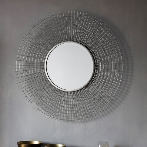 Antila Modern Wall Mirror Round In Silver