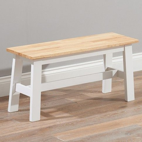 Antlia Wooden Small Dining Bench In Oak And White