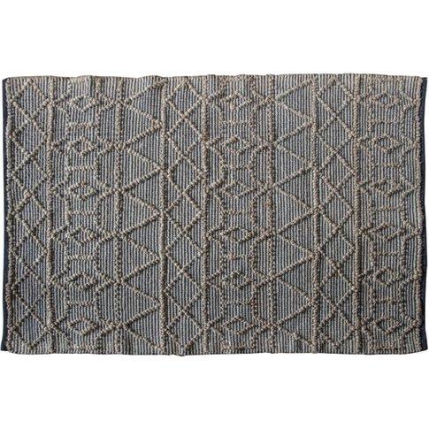 Appellido Medium Fabric Upholstered Rug In Black Nat...