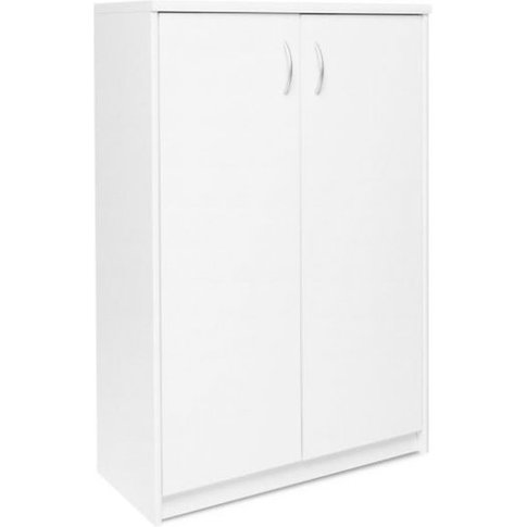 Aquarius Small Shoe Storage Cabinet In White With 2 ...