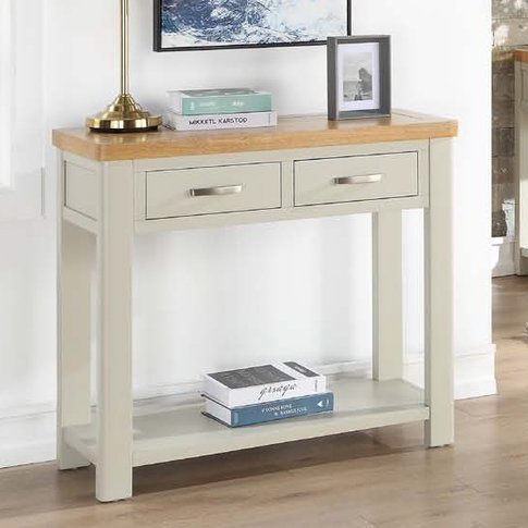 Areli Stone Painted Console Table With 2 Drawers
