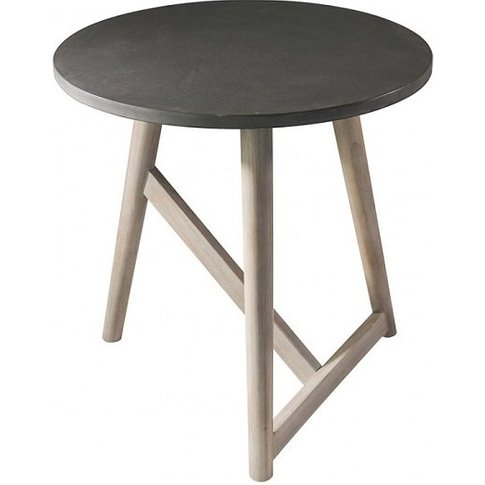 Artisan Side Table Round In Concrete With Mindy Ash ...