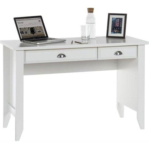 Augusta Home Office Laptop Desk In Soft White