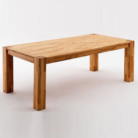 Austria Wooden Dining Table Rectangular In Beech Hea...