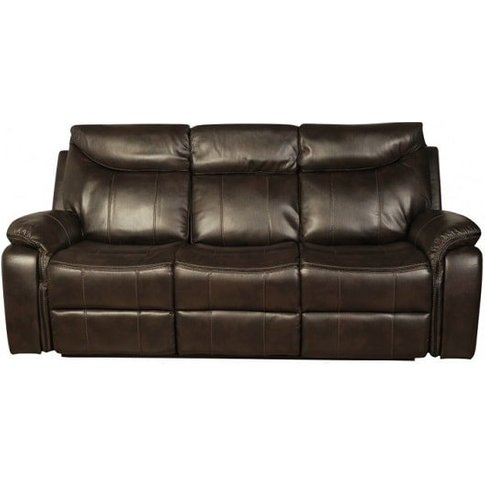 Avery Recliner 3 Seater Sofa In Brown Faux Leather