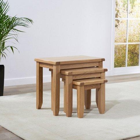 Avignon Wooden Nest Of Tables In Oak