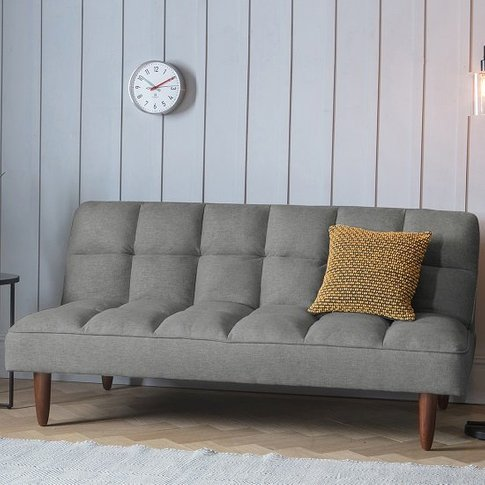 Azcona Contemporary Fabric Sofabed In Frost Grey