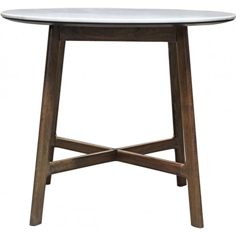 Barcelona Round Marble Top Dining Table