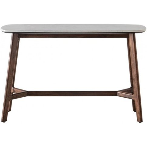 Barcelona Wooden Console Table With Marble Top