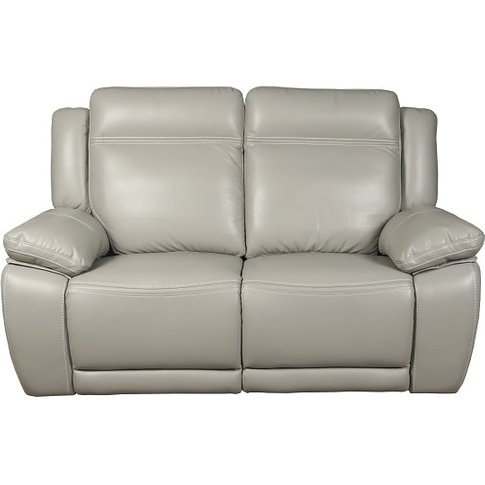 Baxter Recliner 2 Seater Sofa In Light Grey Leather ...
