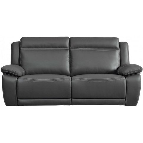 Baxter Recliner 3 Seater Sofa In Dark Grey Leather A...