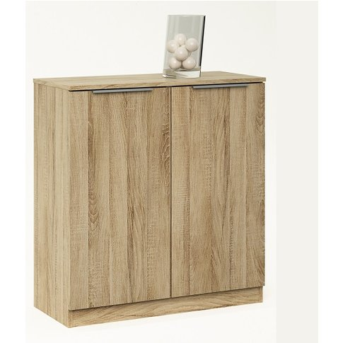 Bayern Compact Sideboard In Brushed Oak With 2 Doors