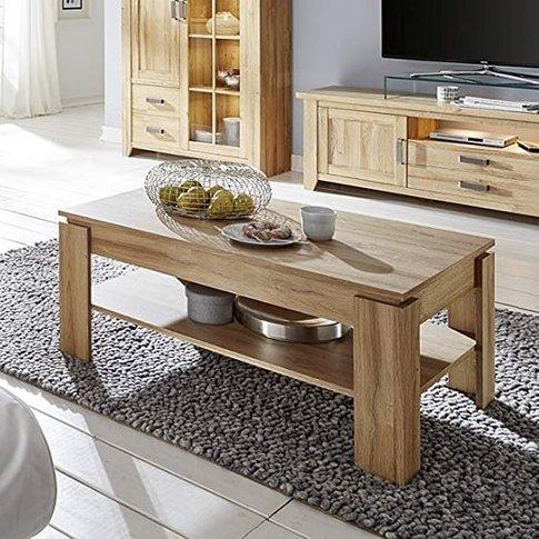 Berger Wooden Coffee Table Rectangular In Rustic Oak