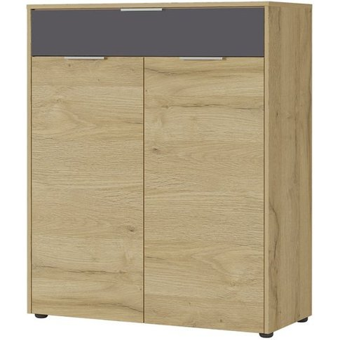 Berlebeck Shoe Storage Cabinet In Grandson Oak And G...